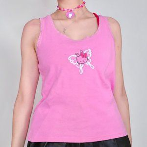 BUTTERFLY HELLO KITTY CAMI TOP